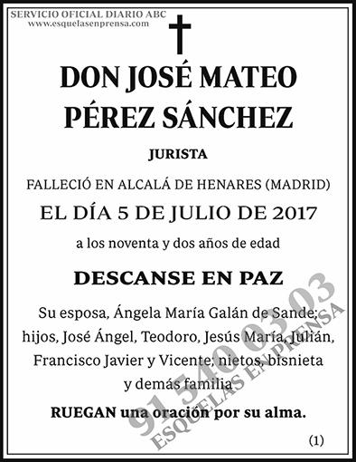 José Mateo Pérez Sánchez